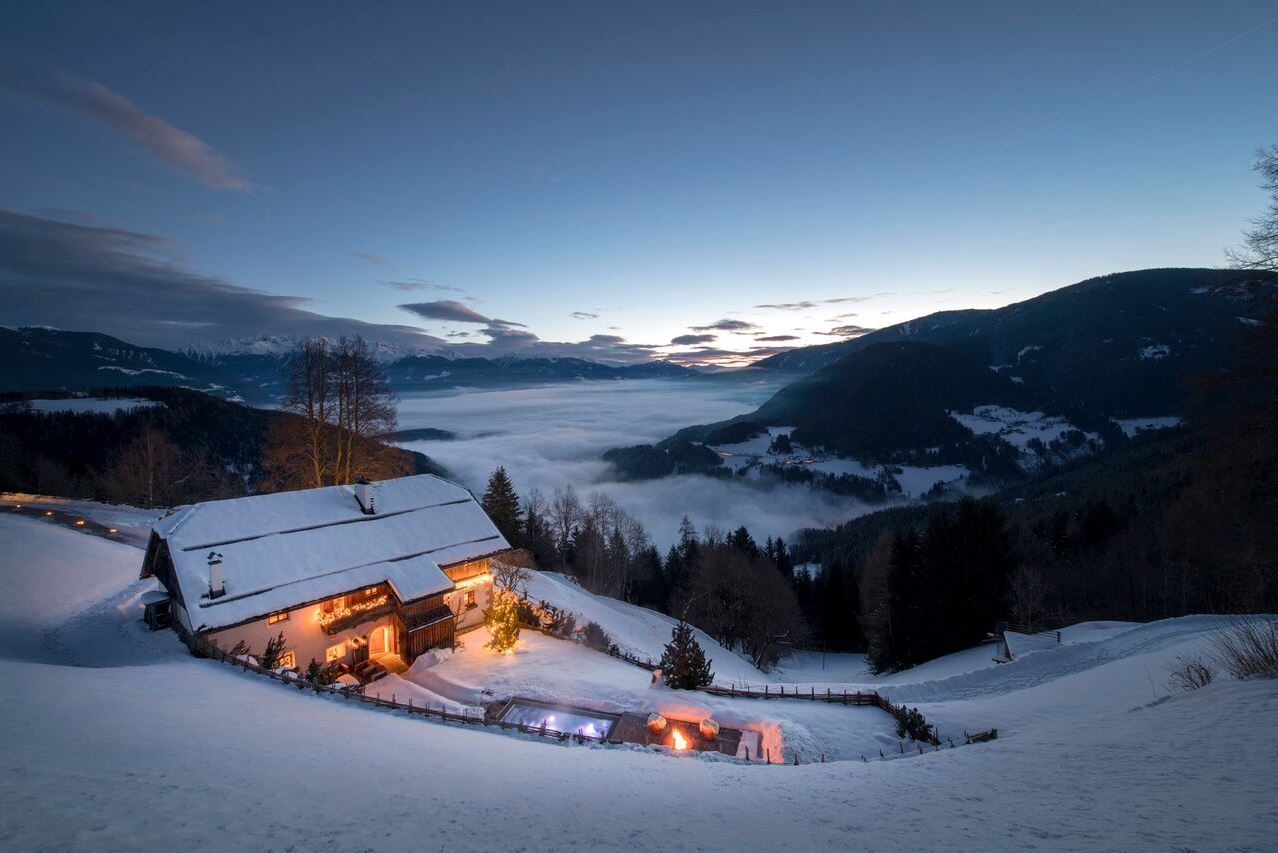 Luxury ski chalets in the Alps
