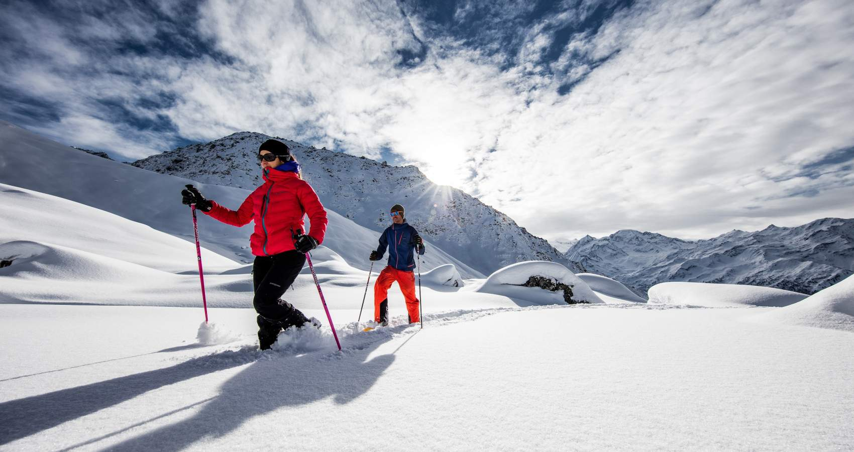 Snow-shoeing - a great way to see the stunning landscape.