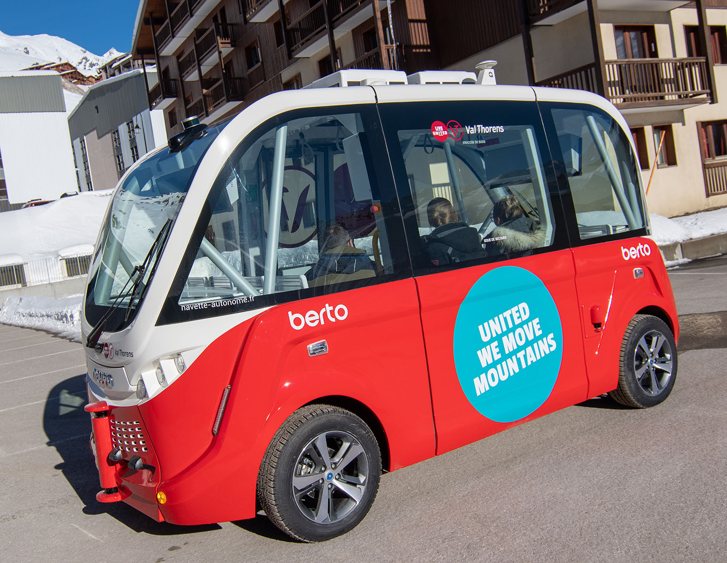 Val Thorens Self-Driving Electric Shuttle Bus