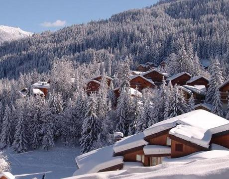 Chalets in La Tania - North facing and holding snow well right to the end of the season