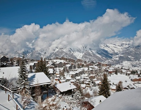Chalets in Nendaz Switzerland - the ski resort centre