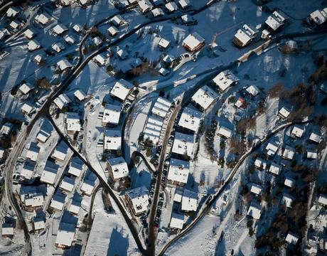 Chalets in Veysonnaz Switzerland - an aerial view