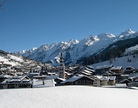Chalets in La Clusaz - a pretty resort in the French Alps