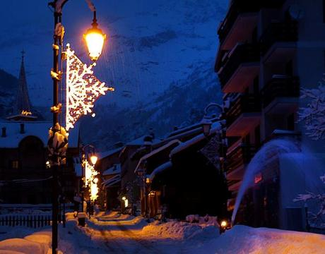 Ski resort Alagna in Italy