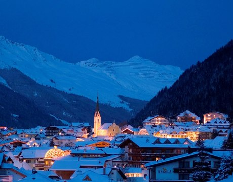The chalets and hotels of Ischgl Austria