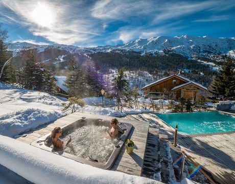 Ski chalets with hot tub - this is the lovely Mont Tremblant in Meribel