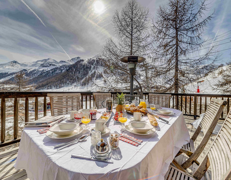 Chalets in Val d'Isere - great view from Chalet Montana