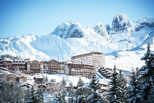 Ski resorts in France - this the purpose built resort of Courchevel 1650