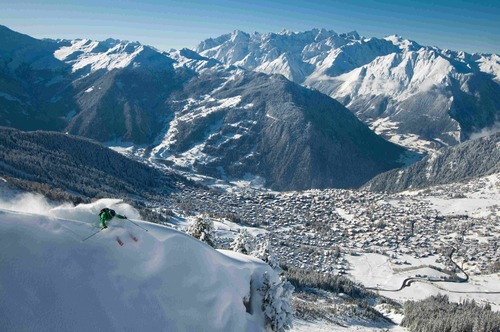 Verbier is the main resort in the 4 Valleys area