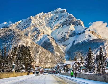Ski resort Banff in Canada