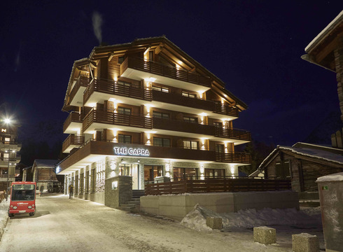 Hotel The Capra ski hotel in Saas Fee