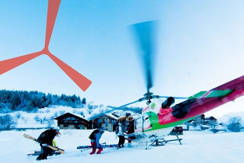 Heli-skiing France
