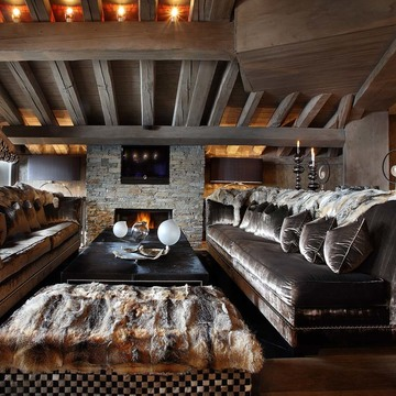 Chalet atlantique courchevel 1850 livingroom